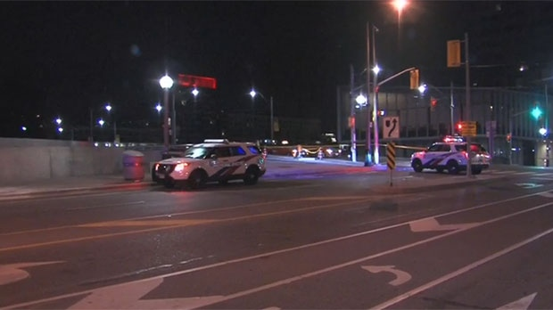 Police are investigating after a cyclist was critically injured near Bathurst Street and Fort York Boulevard.