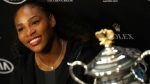 In this Jan. 28, 2017, file photo, Serena Williams answers questions at a press conference after defeating her sister Venus to win the women's singles final at the Australian Open tennis championships in Melbourne, Australia. (AP Photo/Kin Cheung, File)