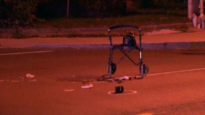 Toronto police are investigating after a woman in her 60s was struck while using a walker to cross the street in the city's east end.