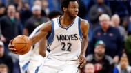 Minnesota Timberwolves' Andrew Wiggins plays during the second half of an NBA basketball game against the Washington Wizards in Minneapolis on March 13, 2017. Andrew Wiggins says he feels good about a max contract offer that is sitting in front of him with the Minnesota Timberwolves. But the 22-year-old from Vaughan, Ont., is in no rush to get it signed.Wiggins says he is going over the five-year, US$148 million offer from the Wolves deliberately to make sure everything is where he wants it before he signs. He is being extra careful because he is operating without an agent after parting ways with Bill Duffy and BDA Sports in August. THE CANADIAN PRESS/AP, Jim Mone