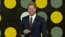 Prince Harry speaks at the opening ceremony for the Invictus Games in Toronto Saturday September 23, 2017.