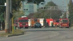 Fire crews are on the scene of a chemical spill in Etobicoke.