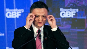 Alibaba Group Chairman Jack Ma speaks at the Bloomberg Global Business Forum, Wednesday, Sept. 20, 2017, in New York. (AP Photo/Mark Lennihan)