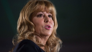 Conservative MP Dianne Watts announces she will seek the leadership of the B.C. Liberal Party, during a speech to supporters in Surrey, B.C., on Sunday September 24, 2017. THE CANADIAN PRESS/Darryl Dyck