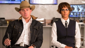 "This image released by Twentieth Century Fox shows Channing Tatum, left, and Halle Berry in ""Kingsman: The Golden Circle."" (Giles Keyte/Twentieth Century Fox via AP)"