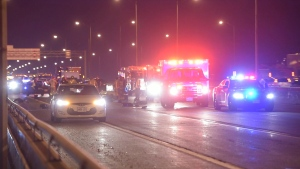 QEW, crash, skyway