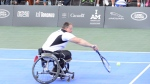 A wheelchair tennis event at the Invictus Games gets underway in Toronto, Monday, Sept.25, 2017. THE CANADIAN PRESS/Nathan Denette