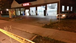 A teen is in critical condition after he was stabbed in the area of Victoria Park Avenue and Ellesmere Road. (Mike Nguyen/ CP24)