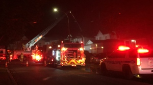 One person was taken to hospital after a house fire in Whitby. (Mike Nguyen/ CP24)