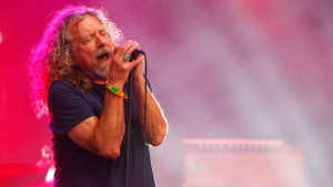 In this June 14, 2015, file photo, Robert Plant and The Sensational Space Shifters perform at the Bonnaroo Music and Arts Festival in Manchester, Tenn. Plant announced his 2018 North American tour on Sept. 26, 2017. (Photo by Wade Payne/Invision/AP, File)