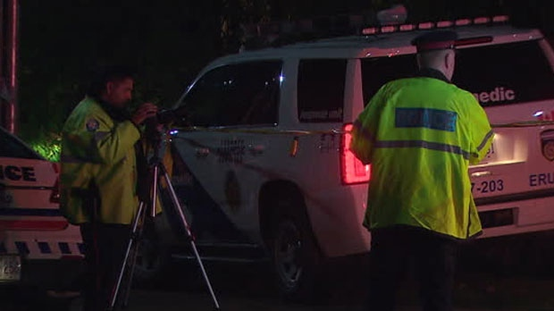 Police say an elderly pedestrian suffered critical injuries after he was struck by a vehicle in Forest Hill.