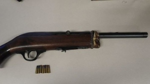 Police released this photo of a weapon seized from an address in Oakwood Village. (Toronto Police Service handout)