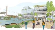 An artist's rendering shows what Sidewalk Toronto will look like when it is complete. (Sidewalk Toronto)