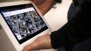 The Google Maps application is demonstrated in New York on Thursday, Dec. 13, 2012. (AP / Karly Domb Sadof)