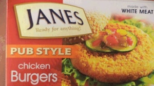 Janes, chicken, burgers,