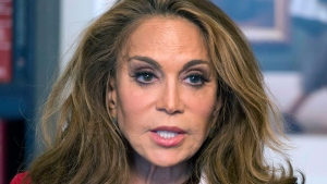 In this May 7, 2015 file photo, Pamela Geller speaks during an interview at The Associated Press in New York. (AP Photo/Mark Lennihan, File)