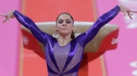 In this July 29, 2012, file photo, U.S. gymnast McKayla Maroney poses after completing her routine on the vault during the Artistic Gymnastic women's qualifications at the 2012 Summer Olympics in London. Maroney posted a statement on Twitter Oct. 18, 2017, in which she said she was molested for years by former Team USA doctor Larry Nassar. (AP Photo/Julie Jacobson, File)