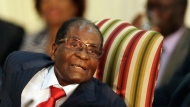 "In this file photo dated Tuesday, Oct. 3, 2017, Zimbabwe's President Robert Mugabe, during his meeting with South African President Jacob Zuma, at the Presidential Guesthouse in Pretoria, South Africa. Zimbabwe President Robert Mugabe has long faced United States sanctions over his government's human rights abuses, but the World Health Organization new director-general Tedros Ghebreyesus is making the longtime African leader a ""goodwill ambassador"" Friday Oct. 20, 2017.(AP Photo/Themba Hadebe)"