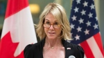 United States Ambassador Kelly Knight Craft delivers a brief statement after presenting her credentials during a ceremony at Rideau Hall Monday October 23, 2017 in Ottawa. THE CANADIAN PRESS/Adrian Wyld