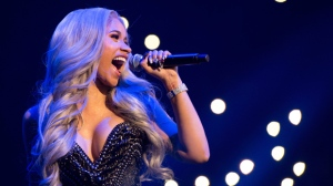 Recording artist Cardi B performs at Power 105.1's Powerhouse 20167at Barclays Center on Thursday, Oct. 26, 2017, in Brooklyn, New York. (Photo by Scott Roth/Invision/AP)