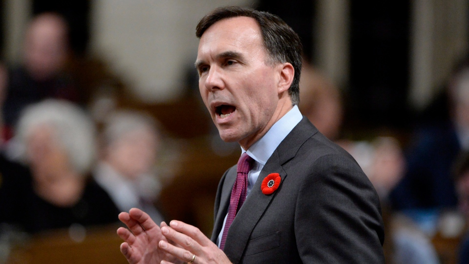 Finance Minister Bill Morneau responds to a question during Question Period in the House of Commons, in Ottawa on Tuesday, October 31, 2017. (THE CANADIAN PRESS / Adrian Wyld)