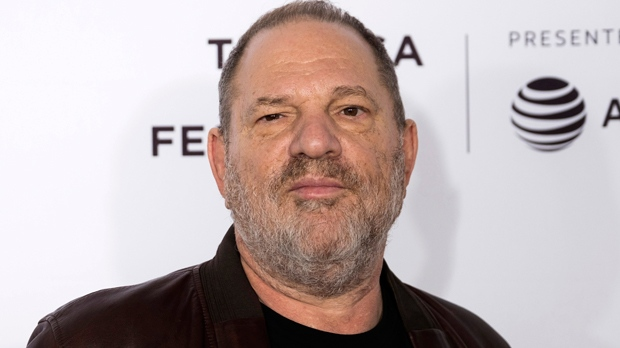 "In this April 28, 2017 file photo, Harvey Weinstein attends the ""Reservoir Dogs"" 25th anniversary screening during the 2017 Tribeca Film Festival in New York. A Delaware judge has scheduled an initial hearing in a lawsuit filed by the disgraced film mogul  against the company he co-founded. Weinstein is seeking access to his employment file and emails. (Photo by Charles Sykes/Invision/AP, File)"