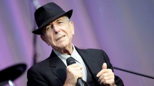Singer Leonard Cohen performs open air at the Waldbuehne in Berlin, Aug. 18, 2010. (THE CANADIAN PRESS / AP, DAPD, Kai-'Uwe Knoth)