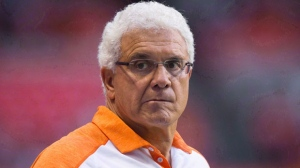 B.C. Lions' head coach Wally Buono watches from the sideline during the first half of a CFL football game against the Calgary Stampeders in Vancouver, B.C., on June 25, 2016. Uncertainty abounds as the B.C. Lions are set to close out their disappointing season with Saturday's regular-season finale against the Toronto Argonauts. General manager and head coach Wally Buono admits he doesn't know if he'll be back on the sidelines next year. THE CANADIAN PRESS/Darryl Dyck