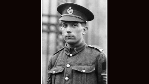 Cpl. Colin Fraser Barron VC is shown in this undated handout photo. Passchendaele. More than 500,000 people, including 15,000 Canadians, were killed or wounded at during the prolonged fight, as weeks of rain and shell fire churned the battlefield into a sea of mud. Yet amid the horror that enveloped a small part of Belgium in the summer and fall of 1917, were nine Canadians who would be awarded the Victoria Cross, the British Empire's highest medal for bravery. Now one of those Victoria Crosses, awarded to 24-year-old Cpl. Colin Barron for his actions exactly 100 years ago Monday, is set to go up for auction on Dec. 5. THE CANADIAN PRESS/HO - National Defence