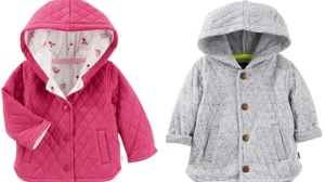 Photos of the Baby B'gosh jackets that are the subject of a Health Canada recall.