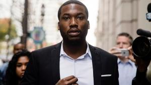 Rapper Meek Mill arrives at the criminal justice center in Philadelphia, Monday, Nov. 6, 2017. (AP Photo/Matt Rourke)