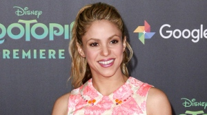 "FILE - In this Feb. 17, 2016, file photo, Shakira attends the LA Premiere of ""Zootopia"" in Los Angeles. Shakira is postponing her European tour after suffering a vocal cord hemorrhage. Shakira took to Twitter on Tuesday, Nov. 14, 2017, to apologize to her fans, saying she has a ""heavy heart"" but must stop singing to recover. (Photo by John Salangsang/Invision/AP, File)"