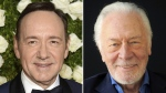 Kevin Spacey and Christopher Plummer are seen in this composite image. (AP)