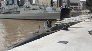 The submarine ARA San Juan is seen in May, 2017 in Buenos Aires, Argentina. (Juan Kulichevsky/Wikimedia Commons)