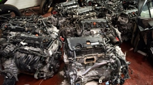 Stolen motors recovered after a police raid on a business in North York are shown in a handout image. (YRP)