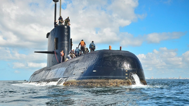 'Banging' noises could be coming from missing Argentine sub, officials say