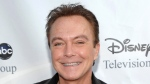 """This Aug. 8, 2009 file photo shows actor-singer David Cassidy arrives at the ABC Disney Summer press tour party in Pasadena, Calif.  Cassidy has been hospitalized in Florida. His representative tells The Associated Press on Saturday, Nov. 18, 2017,  that Cassidy is """"now conscious"""" and """"surrounded by family."""" The rep adds that Cassidy was in pain and taken to the hospital on Wednesday. No additional details were provided. (AP Photo/Dan Steinberg, File)"""