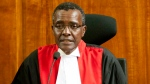 Kenyan Supreme Court Chief Justice David Maraga presides during the judgement of the petitions at Supreme court in Nairobi, Kenya, Monday, Nov. 20, 2017. Kenya's Supreme Court has upheld President Uhuru Kenyatta's re-election in a repeat vote that the opposition boycotted while saying electoral reforms had not been made. The court dismissed challenges by human rights activists and a politician who argued that last month's election was not conducted according to the law. (AP Photo/Sayyid Abdul Azim)