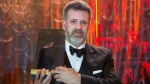 "Author Michael Redhill celebrates winning the 2017 Giller Prize for his novel ""Bellevue Square"" in Toronto on Monday, November 20, 2017. THE CANADIAN PRESS/Chris Young"