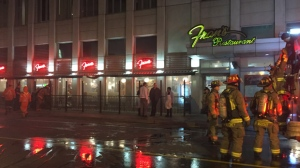Fire crews were called to Fran's Restaurant on Tuesday morning for a grease fire in the kitchen. (Mike Nguyen/ CP24)