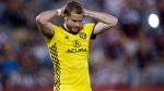 Columbus Crew defender Josh Williams reacts as time runs out in the team's MLS soccer match against the Colorado Rapids in Commerce City, Colo., on June 3, 2017. Defender Josh Williams gets the question pretty much wherever he goes. What does the future hold for the Columbus MLS franchise? Anthony Precourt and Precourt Sports Ventures, which has owned the Major League Soccer club since 2013, has announced plans to move to Austin, Texas, following the 2018 season unless a new, privately financed stadium is built in downtown Columbus. THE CANADIAN PRESS/AP, David Zalubowski
