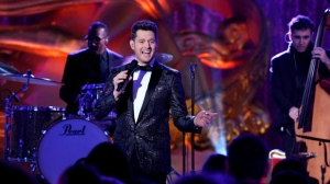 Michael Buble performs at the 2015 Rockefeller Center Christmas Tree Lighting Ceremony, Wednesday, Dec. 2, 2015 in New York. THE CANADIAN PRESS/AP-Photo by Diane Bondareff/Invision for Tishman Speyer/AP Images