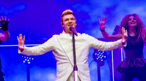 FILE - In this July 9, 2017 file photo, Nick Carter of the Backstreet Boys performs during the Festival d'ete de Quebec in Quebec City, Canada.  (Photo by Amy Harris/Invision/AP, File)