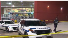 Police respond to the scene of a fatal stabbing at Meadowvale Town Centre in Mississauga Wednesday November 22, 2017.