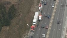 Highway, 401, Milton, tow, truck, driver