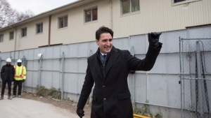 Canadian Prime Minister Justin Trudeau visits a housing development in Toronto's Lawrence Heights neighbourhood ahead of a policy announcement , on Wednesday November 22, 2017. THE CANADIAN PRESS/Chris Young