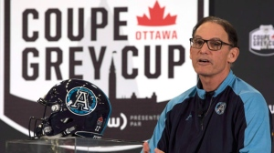 Toronto Argonauts head coach Marc Trestman speaks during the head coaches news conference Wednesday November 22, 2017 in Ottawa. The Toronto Argonauts will play the Calgary Stampeders in the 105th Grey Cup. THE CANADIAN PRESS/Adrian Wyld