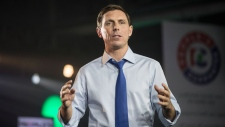 PC Leader Patrick Brown addresses the Conservative Party convention, in Toronto on Saturday, November 25, 2017. THE CANADIAN PRESS/Chris Young