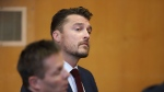 "In this Sept. 14, 2107, file photo, reality TV star Chris Soules, of ""The Bachelor,""Â appears at a hearing in Buchanan County District Court. (Matthew Putney/The Courier via AP)"