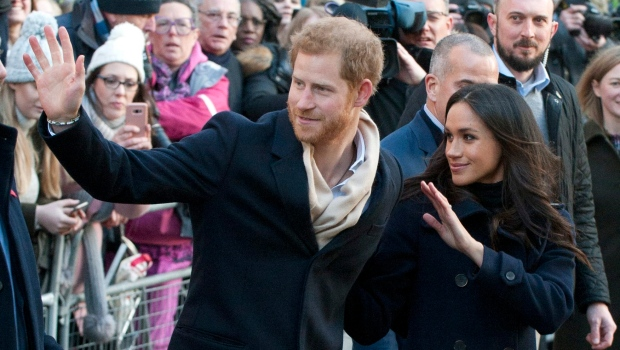 Prince Harry and Meghan make their first royal visit